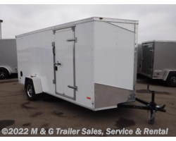 "#644347 - 2018 RC Trailers 6x14SA Enclosed 6'6"" Int Cargo - White"
