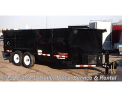 "#001689 - 2018 Midsota 16' Dump Trailer - Black with 45"" Sides"