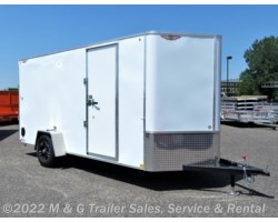 "#505423 - 2018 H&H  6x14SA Enclosed 6'6"" Int Cargo - White"