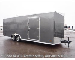 "#645701 - 2018 RC Trailers 8.5X24TA Enclosed 7'6"" Int Car Hauler - Charcoal"