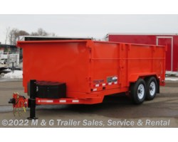 "#001929 - 2018 Midsota 16' Dump Trailer - Orange - 45"" Sides"