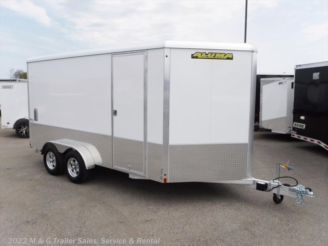 "2019 Aluma 7x14TA Enclosed 6'6"" Int Cargo - Sport Pkg - White"
