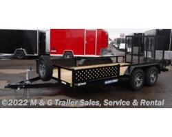#236934 - 2018 Sure-Trac 7X14 Tube Top With ATV Ramps Utility Trailer - Bla