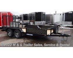 #229620 - 2018 Sure-Trac 7X14 Tube Top With ATV Ramps Utility Trailer - Bla