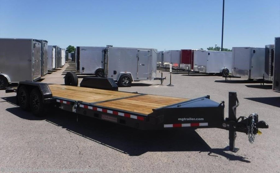 2018 Midsota TB-22 Tilt Bed 17k Equipment Trailer - Black