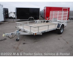 #ADTW646 - 2017 Trophy 6.5'x12' Aluminum Rail Side Utility Trailer!