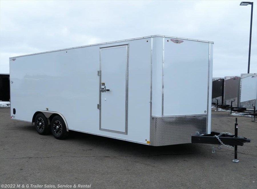 2018 H&H  8.5x20TA Enclosed 10k Car Hauler - White