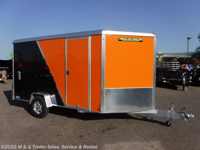2019 Aluma 7x12 Enclosed with Sport Package - Orange/Black