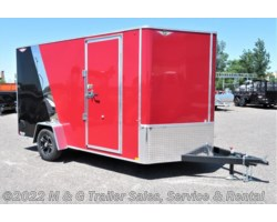 "#510660 - 2018 H&H  7x12 Enclosed 6'6"" Int Cargo - Red/Black"