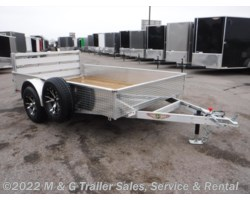 #502353 - 2018 H&H  8x10 Solid Side Aluminum Utility Trailer