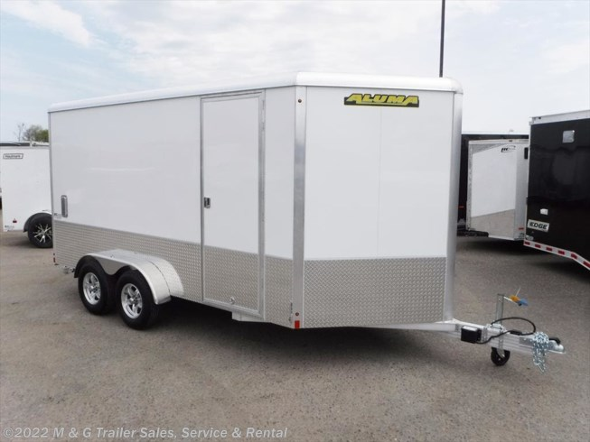 "2019 Aluma 7x14TA Enclosed 6'9"" Int Cargo - Sport Pkg - White"
