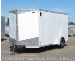 "#645695 - 2018 RC Trailers 7x14SAE Enclosed 6'6"" Int Cargo - White"