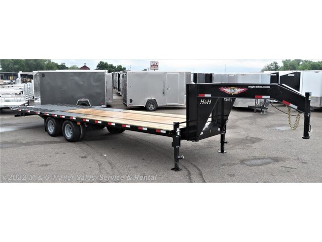 2018 H&H  8.5X30 Gooseneck Deck-over Trailer - Black