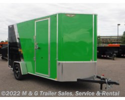 "#511158 - 2019 H&H  6x12 Enclosed 6'6"" Interior Cargo - Green/Black"