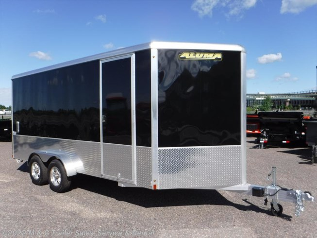 "2019 Aluma 7x16TA Enclosed 6'6"" Int Cargo - Sport Pkg - Black"