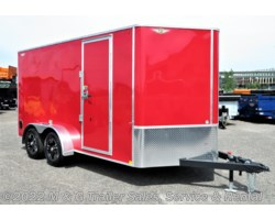 "#512761 - 2019 H&H  7x14TA Enclosed 6'6"" Int Cargo - Red"