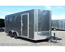 #509602 - 2019 H&H  8.5x16TA Enclosed 7' Interior Cargo - Charcoal