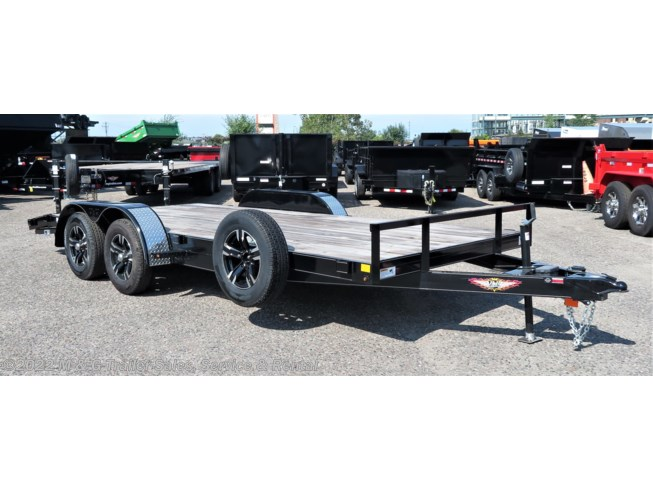 2019 H&H  8.5x16TA Flat Deck 7k Trailer - Black