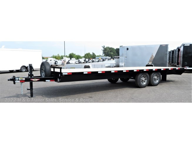 2018 H&H  8.5x24 Deckover 14k Equipment Trailer - Black