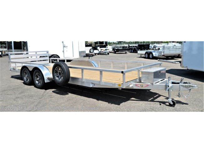 2018 H&H  8.5x20TA Aluminum Rail Side Utility/ATV Trailer