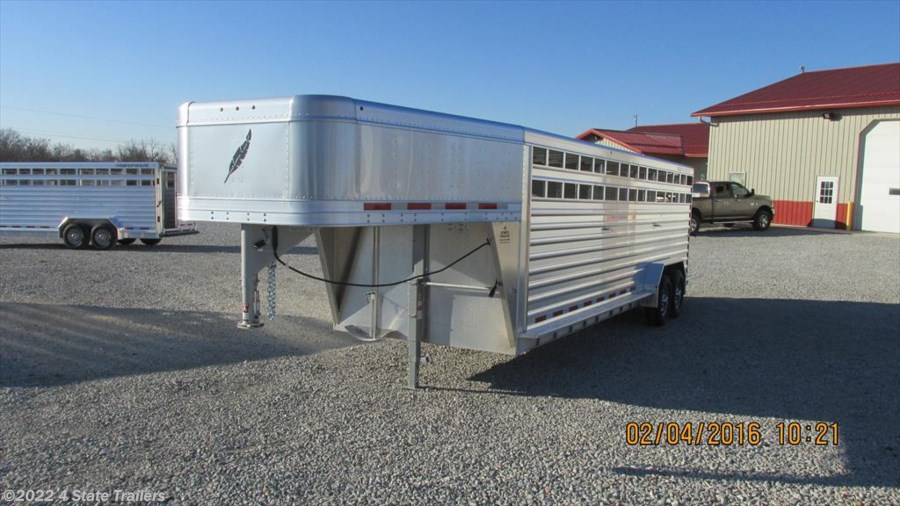 2016 Featherlite 7x24 8127 Stock Trailer 14 PLY!