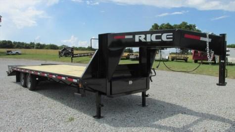 rt12771 2016 rice trailers 102x25 gooseneck flatbed for. Black Bedroom Furniture Sets. Home Design Ideas