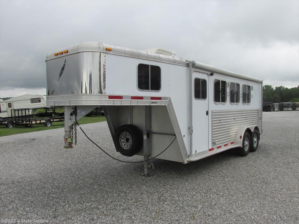 FL66049 - 2004 Featherlite 3 Horse 8541 with Basic Weekender for ...