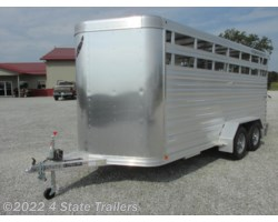 #FL47488 - 2018 Featherlite 6'7x16'X6'6 8107 Stock Trailer 7,000
