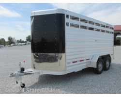 #FL47490 - 2018 Featherlite 6'7x16'X7' 8107 Stock Trailer 10,400 RUBBER FLOOR