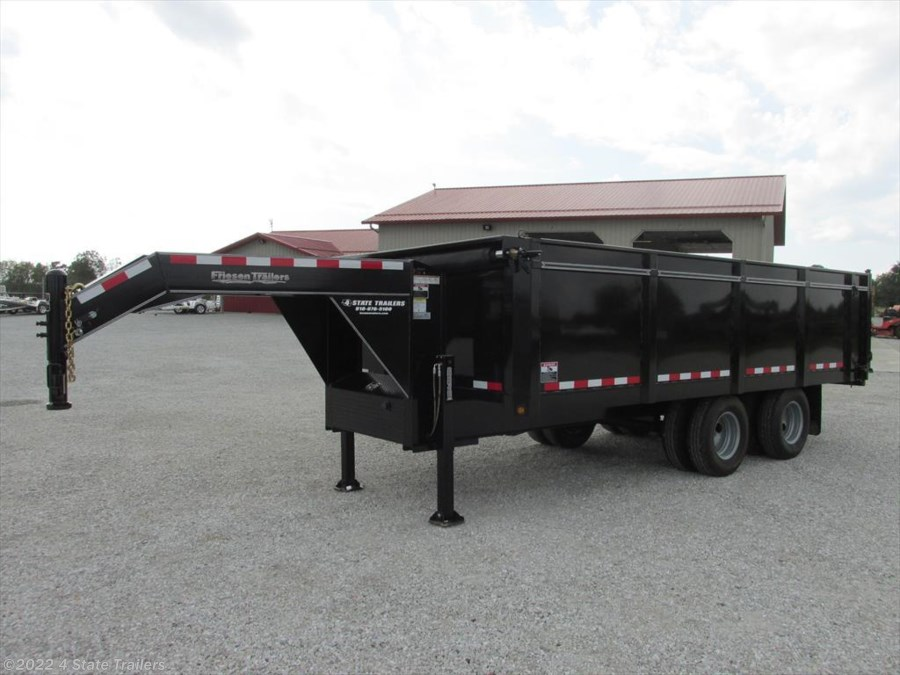 2017 Friesen 8'x18' GOOSENECK TANDEM DUAL DUMP WITH HYD. JACKS!