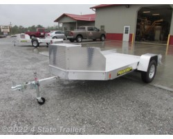 #AL73187 - 2018 Aluma UT10 10' UTV Trailer With Rock Guard & Box