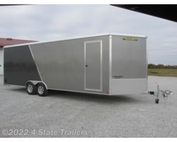 "#AL76013 - 2018 Aluma AER824TA 8'6""X24X7'6"" ALL ALUMINUM CAR TRAILER"