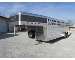 #4S37033 - 2018 4-Star 7X24X6'6 DELUXE STOCK TRAILER