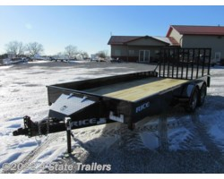 #RT19492 - 2018 Rice Trailers Stealth 82x18 UTILITY TRAILER DOVE- HD RAMP