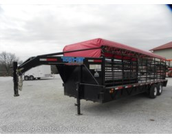 #TH33354 - 2014 Top Hat 6'8x24' Gooseneck Stock Trailer