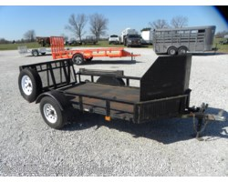 #UT5X8 - 2008 Carry-On 5x8 Utility Trailer Steel Deck