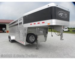 #4S37198 - 2019 4-Star Runabout 6'10X20X7' STOCK TRAILER, WERM FLOOR AND MORE!