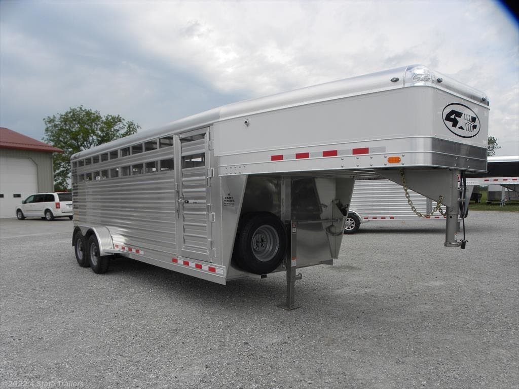 """#4S37196 - 2019 4-Star Runabout6'10X20X6'6"""" STOCK TRAILER for sale in  Fairland OK"""