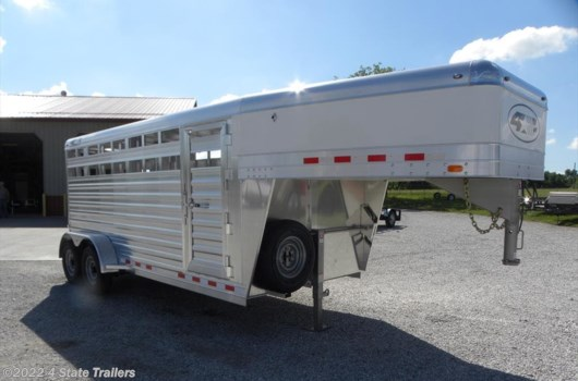 "Livestock Trailer - 2019 4-Star Runabout 6'10X16X6'6"" STOCK TRAILER - HAIL SALE available New in Fairland, OK"