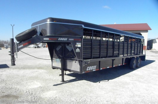 Livestock Trailer - 2019 Coose 6'8x24'x6'6 Metal Top Rubber Floor Stock Trailer available New in Fairland, OK