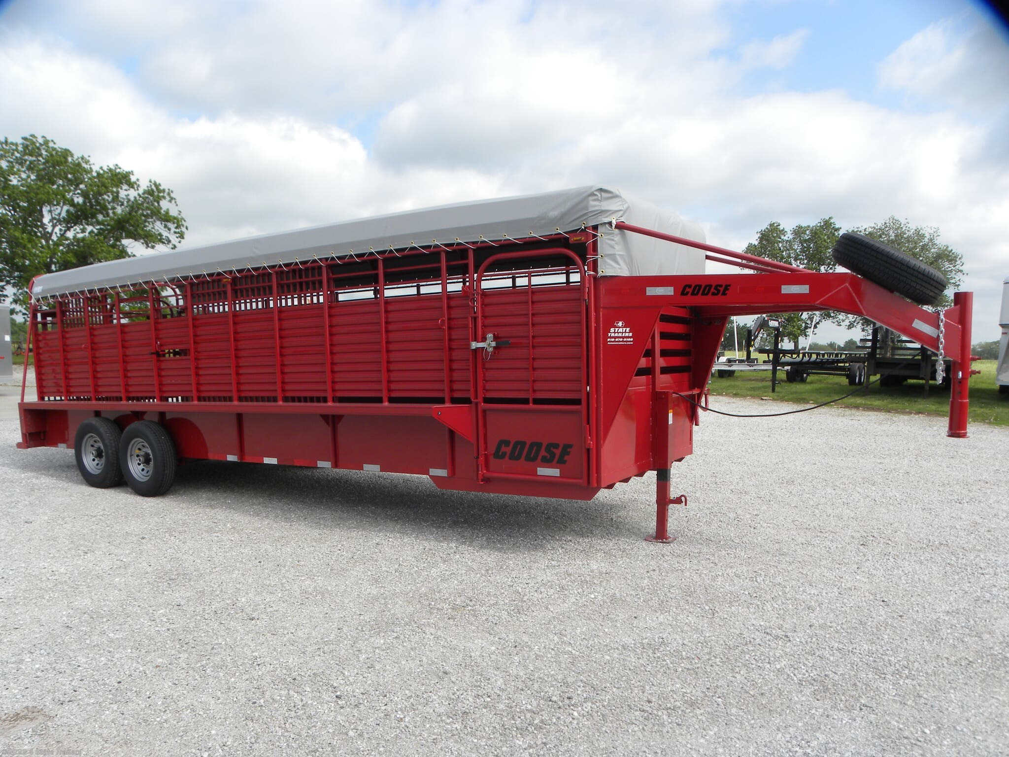 Livestock Trailer For Sale New 2019 Coose 6 8x24 X6 6