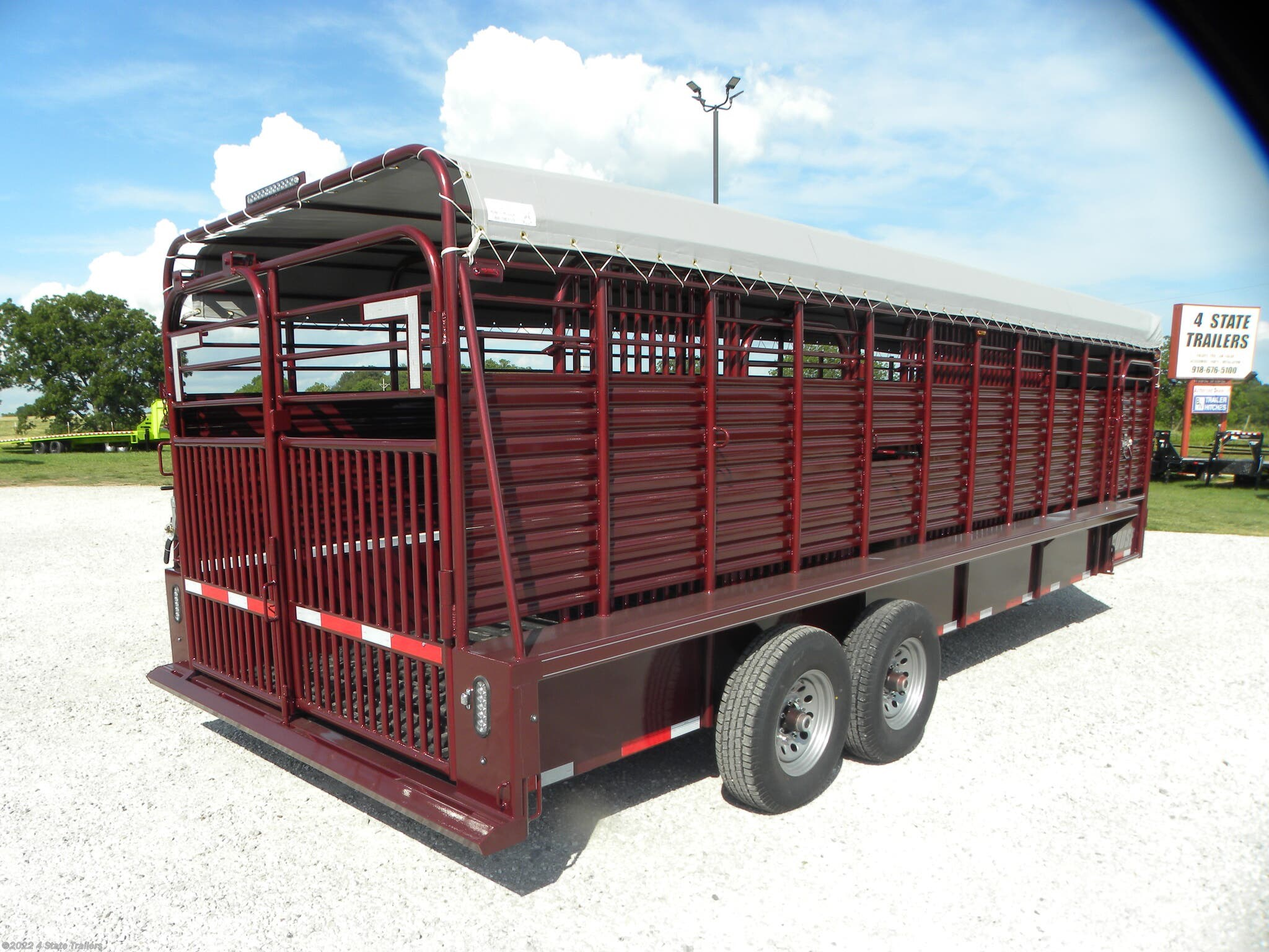 Livestock Trailer For Sale New 2020 Coose 6 8x24 X6 6