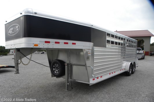 Livestock Trailer - 2020 4-Star 7'X24'X7' DELUXE STOCK COMBO TRAILER!! available New in Fairland, OK