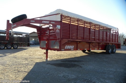Livestock Trailer - 2020 Coose 6'8x24'x6'6 Ranch Hand Tarp Top Rubber Floor Stock available New in Fairland, OK