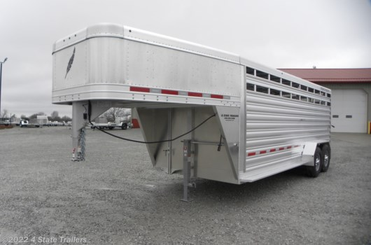 "Livestock Trailer - 2020 Featherlite 6'7"" X 20' X 6'6"" STOCK TRAILER available New in Fairland, OK"