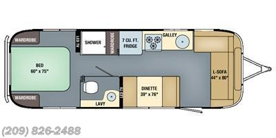2016 Airstream Flying Cloud 28 floorplan image