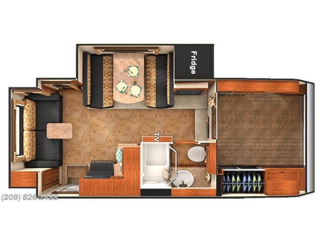 2017 Lance TC 1172 floorplan image