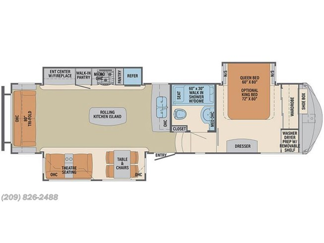 2017 Palomino Columbus 320RS floorplan image