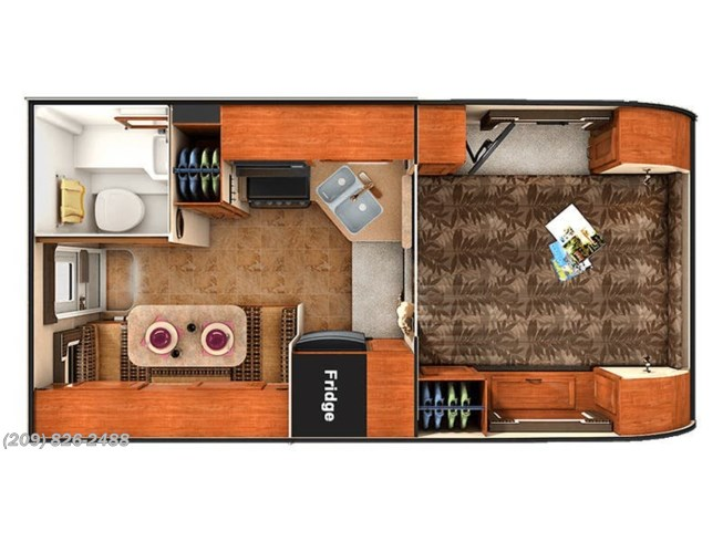 2018 Lance TC 850 floorplan image