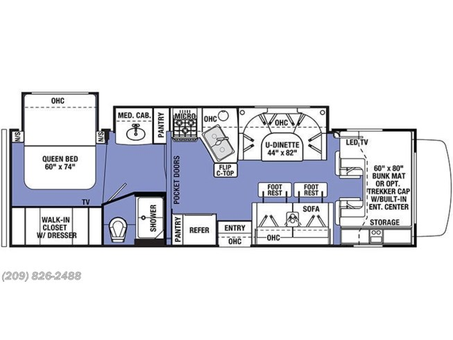 2019 Forest River Sunseeker 3040DS floorplan image